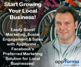 Start Growing Your Local Business! Easily Boost Marketing, Social Engagement & Sales with Appforma – Facebook's Preferred Marketing Solution for Local Businesses!