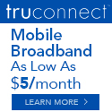 4G LTE from TruConnect Mobile hotspot plans starting under $5/month plus usage