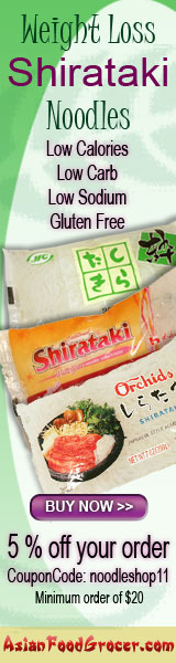 Inexpensive shirataki weight lose noodles from AsianFoodGrocer.com