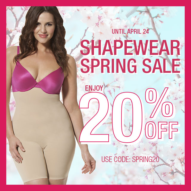 20% off all HookedUp Shapewear