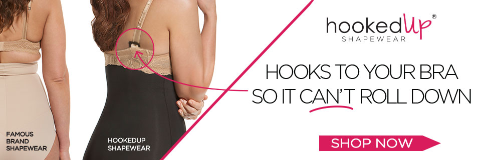 HookedUp hooks to your bra so it can't roll down!