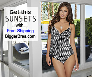 Sunsets swimwear with free shipping at Biggerbras.com