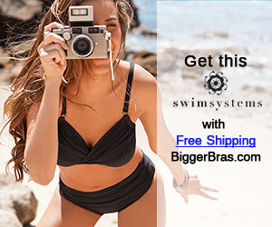 Swim Systems swimwear with free shipping at Biggerbras.com