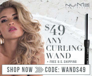 $49 ANY Curling Wands + Free US Shipping
