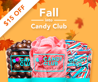 FALL INTO CANDY CLUB! $15 OFF! Shop now!