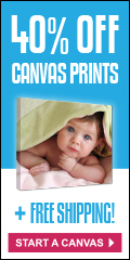 40% off and free shipping on all canvas prints