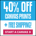 Get 40% off your custom canvas and free shipping