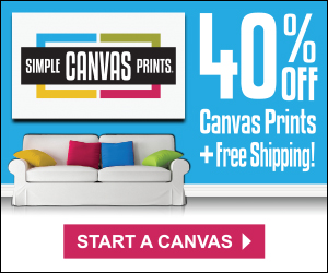 40% off and free shipping Canvas Prints