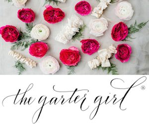 Pink Flowers and Ivory Garters Ad