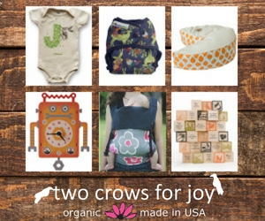 Two Crows for Joy organic baby shower gifts