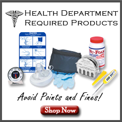 Health Department Required Items