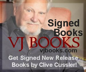Signed books by Clive Cussler