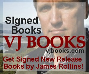 Signed books by James Rollins