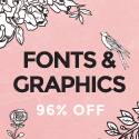SALE!! 36 Fonts and Tons of Graphics at 96%