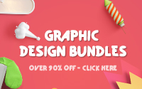 Graphic Design Bundles over 90% OFF!!