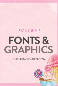 SALE!! Fonts & Graphics 97% OFF