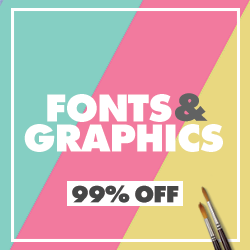 35+ Fonts & 1000's of Graphics at 98% OFF