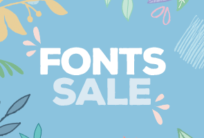 SALE!! Over 40+ Fonts & Graphics over 90% OFF