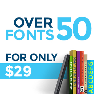 50 Fonts for Only $29!! TheHungryJPEG.com