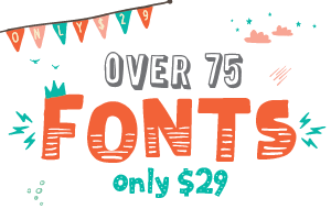 75 Fonts for ONLY $29!!! TheHungryJPEG.com