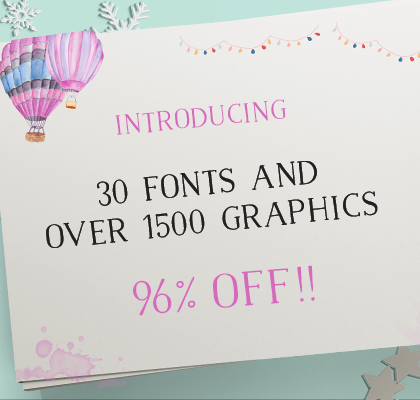 30+ Fonts and over 1500 Graphics