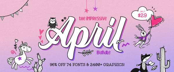 SALE!! 96% OFF Get The Impressive April Bundle