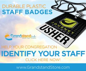 Durable Plastic Staff Badges Printed By GrandstandStore.com