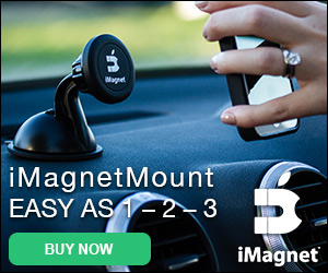 The iMagnetMount – Just lift your phone to the mount and it locks into place - Easy as 1-2-3! Go to iMagnetMount.com!