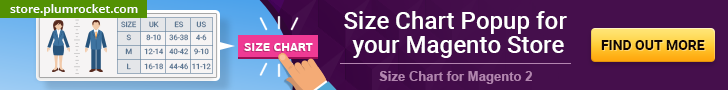 Size Chart Magento 2 Extension