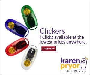 Karen Pryor carries authentic i-Clicks