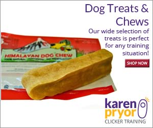 Whether you need bite-sized pieces for rapid clicking or a big tasty jackpot to reinforce a recall, you and your dog will approve of any treats KPCT carries!