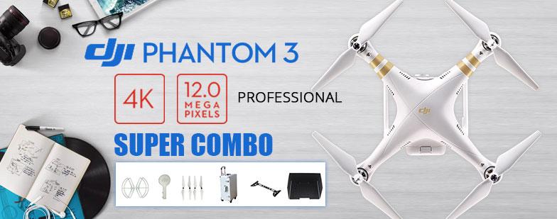 DJI Phantom 3 Professional Version mit 4K Kamera RC Quadcopter ?Propellers+Schutzring+Linsenschutz + Lens Gimbal Schutzboard + Sonnenblende+ Aluminium Koffer?