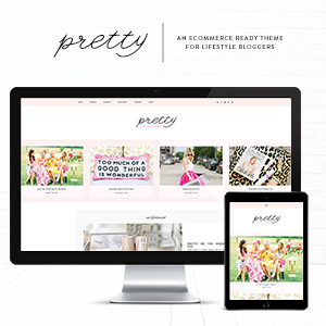 Pretty eCommerce WordPress Theme for Lifestyle Bloggers