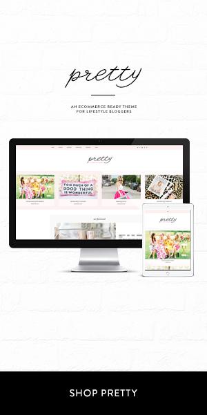 Pretty eCommerce WordPress Theme for Lifestyle Bloggers
