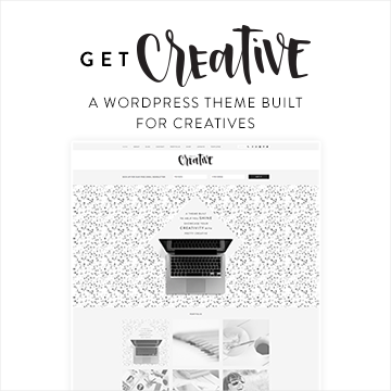 Pretty Creative - A WordPress Theme built for Creatives. Flexible widget areas, category grid display, and built in color/image customization.