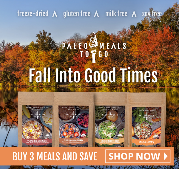 Fall Into Good Times with Paleo Meals To Go! Buy 3 and Save!