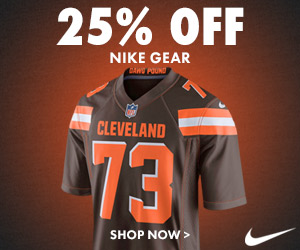 IT'S BACK! Get Up To 25% Off Browns Nike & Under Armour Gear!