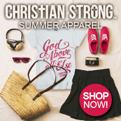 Shop now for our God Above All Else Christian Strong Ladies Summer Tee Shirt