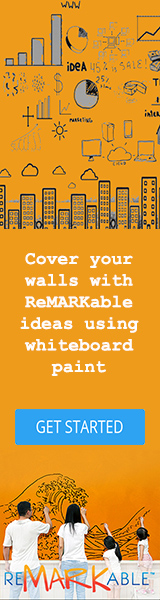 cover your wall with ReMARKable ideas using whiteboard paint