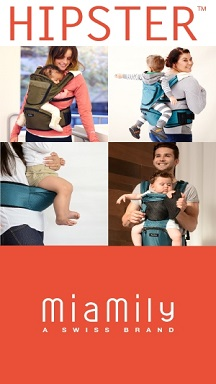 MiaMily Red HIPSTER™ Multi-Wearing Carrier