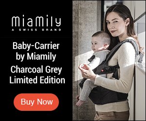 Baby Carrier by MiaMily Charcoal Grey Limited Edition
