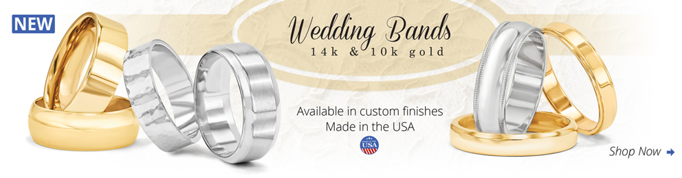 Hand Made Wedding Band Rings Available in 10k/14k and 18k Gold