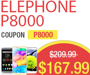 $167 Free Shipping Elephone P8000 Smartphone