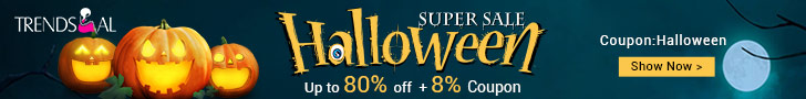 Halloween Special Sale: Up to 80% OFF + Extra 8% OFF with Coupon: Halloween!