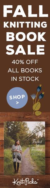 40% off all instock books at knitpicks.com