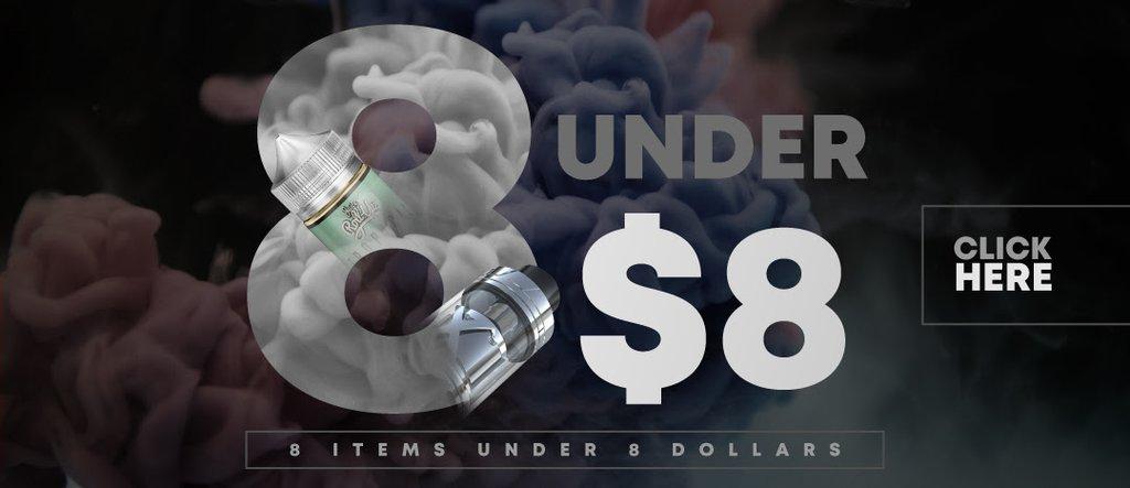 8 under $8