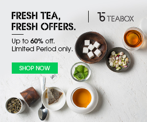 Up to 60% off at Teabox.com
