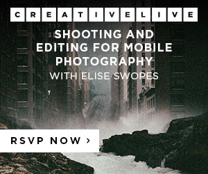 Shooting and Editing for Mobile Photography at CreativeLive