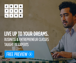 CreativeLive. Live up to your dreams. Business and entrepreneur classes taught by experts. Free preview.