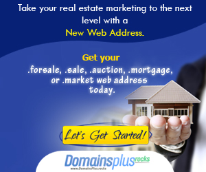 Highlight the real estate TLDs with this banner